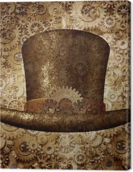 Tableau sur toile Steampunk Top Hat