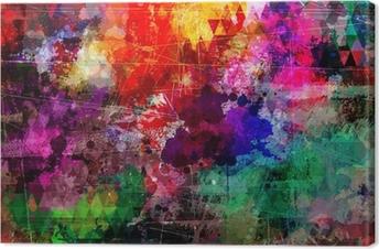 Tableau sur toile Style grunge aquarelle abstraite de fond