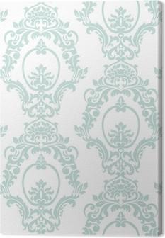 Tableau sur toile Style impérial de vecteur damassé vintage style impérial. Élément floral orné pour le tissu, le textile, le design, les invitations de mariage, cartes de voeux, papier peint. couleur bleu opale