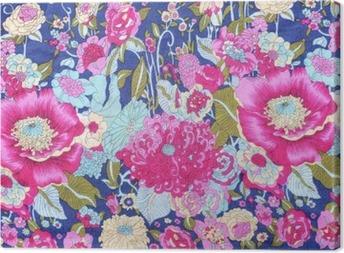 Tableau sur toile Style vintage de fleurs de tapisserie tissu motif de fond
