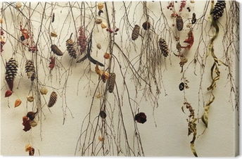 Tableau sur toile Suisse, Zurich: des branches sèches sur un mur