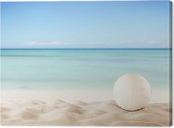 Tableau sur toile Summer Beach avec volley ball