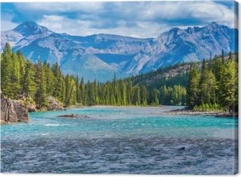Tableau sur toile Superbe paysage de montagne canadienne