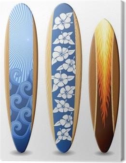 Tableau sur toile Surfboards bois