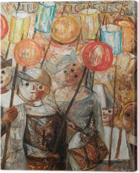 Tableau sur toile Tadeusz Makowski - Enfants avec des torches - Reproductions