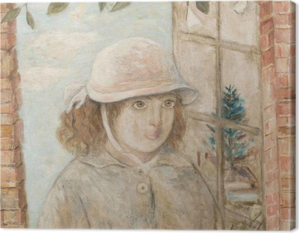 Tableau sur toile Tadeusz Makowski - Fenêtre en fleurs - Reproductions