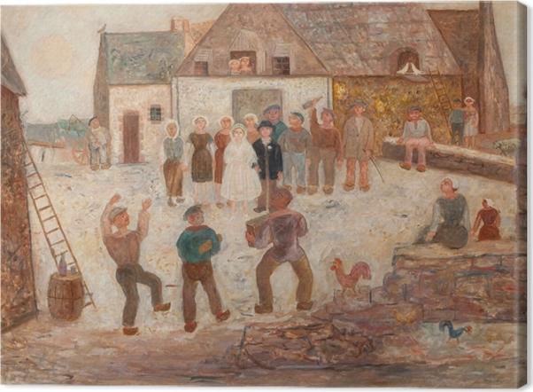 Tableau sur toile Tadeusz Makowski - Fête de mariage à la campagne - Reproductions
