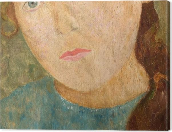Tableau sur toile Tadeusz Makowski - Fille avec une tresse rouge - Reproductions