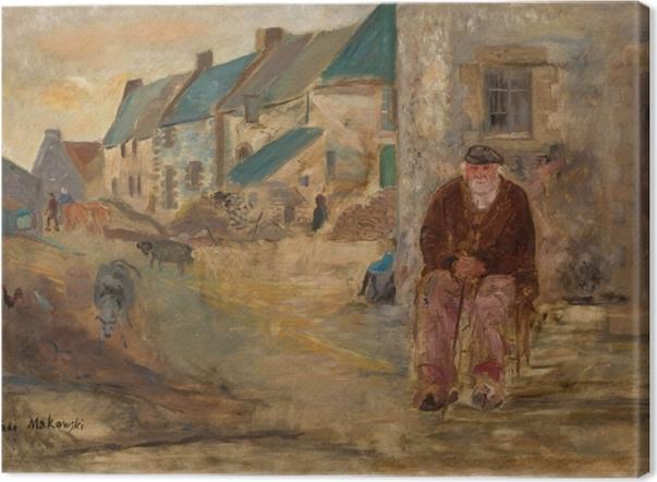Tableau sur toile Tadeusz Makowski - Idylle près de la clôture - Reproductions