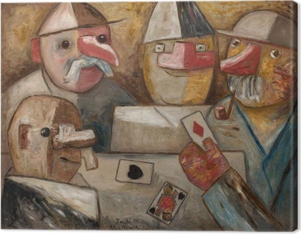 Tableau sur toile Tadeusz Makowski - Jeux de cartes - Reproductions