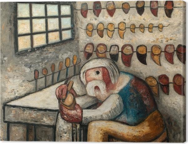 Tableau sur toile Tadeusz Makowski - Le sabotier - Reproductions