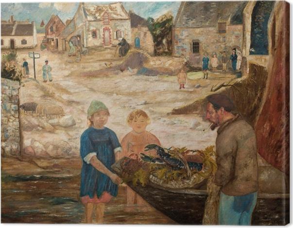 Tableau sur toile Tadeusz Makowski - Retour de la pêche à l'écrevisse - Reproductions