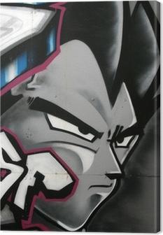 Tableau sur toile Tag de personnage en couleur