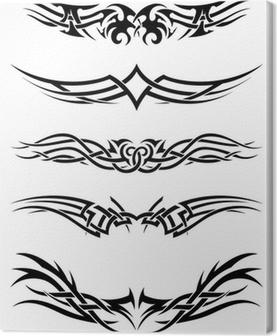 Tableau sur toile Tatouages tribaux Set