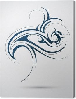Tableau sur toile Tattoo tribal