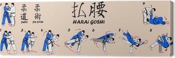 Tableau sur toile Technique de l'art Judo Martial