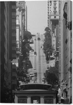 Tableau sur toile Téléphérique à San Francisco