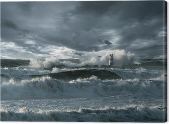 Tableau sur toile Tempête dans l'Atlantique