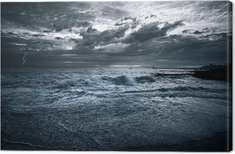 Tableau sur toile Tempete mer