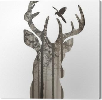 tableaux sur toile for t pixers nous vivons pour changer. Black Bedroom Furniture Sets. Home Design Ideas