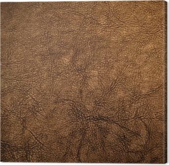 Tableau sur toile Texture de cuir brun.