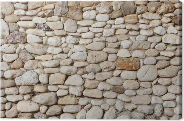 Mur En Cailloux tableau sur toile texture de mur en pierre de cailloux irréguliers