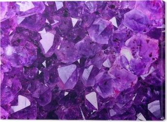 Tableau sur toile Texture violette brillante de l'améthyste naturelle
