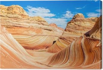 Tableau sur toile The Wave, Arizona désert rocheux