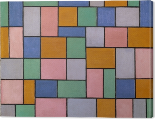 Tableau sur toile Theo van Doesburg - Composition en dissonance - Reproductions