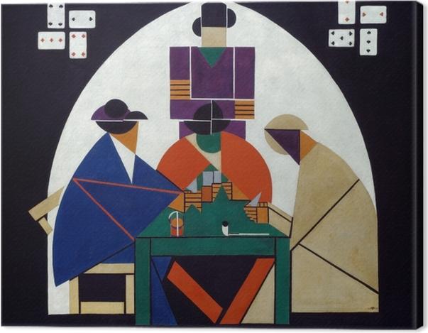 Tableau sur toile Theo van Doesburg - Joueurs de cartes - Reproductions
