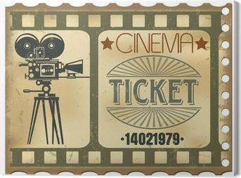 Tableau sur toile Ticket de cinéma