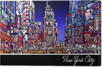 Tableau sur toile Times Square à New York la nuit