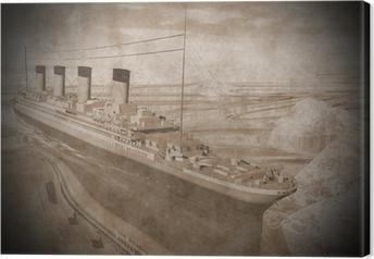 Tableau sur toile Titanic navire - Rendu 3D