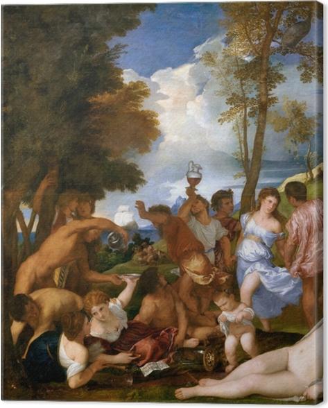 Tableau sur toile Titien - Arrivée de Bacchus sur l'île d'Andros - Reproductions