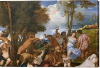 Tableau sur toile Titien - Arrivée de Bacchus sur l'île d'Andros