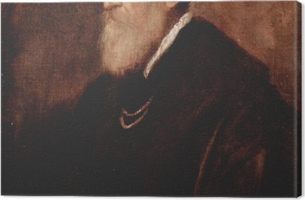 Tableau sur toile Titien - Autoportrait - Reproductions