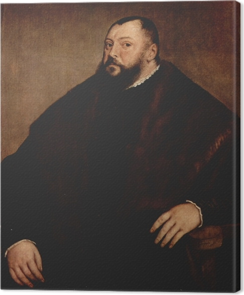Tableau sur toile Titien - Friedrich von Sachsen - Reproductions