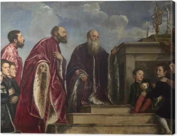 Tableau sur toile Titien - La famille Vendramin - Reproductions