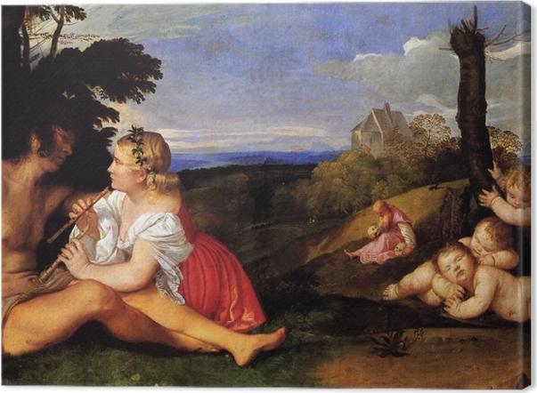 Tableau sur toile Titien - Les Trois Âges de l'homme - Reproductions
