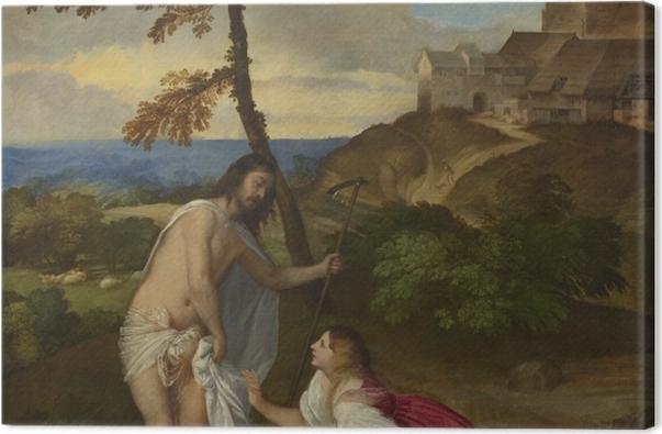 Tableau sur toile Titien - Noli me tangere - Reproductions
