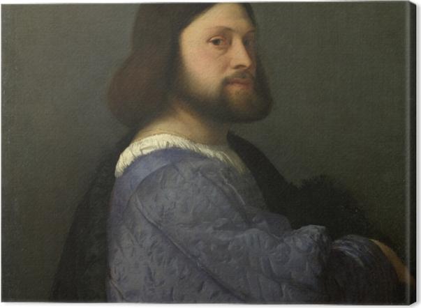 Tableau sur toile Titien - Portrait d'homme - Reproductions