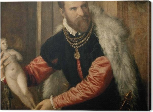 Tableau sur toile Titien - Portrait de Jacopo Strada - Reproductions