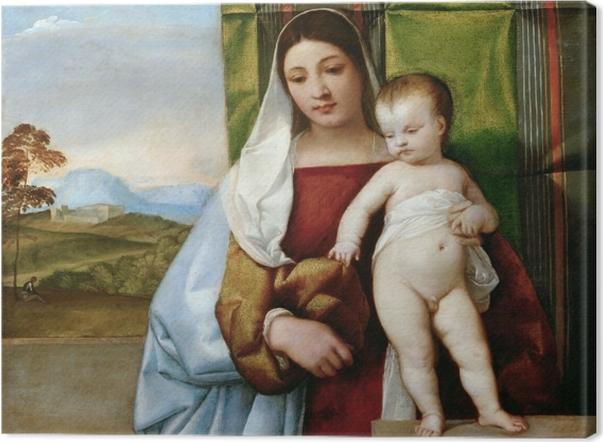 Tableau sur toile Titien - Vierge à l'enfant - Reproductions