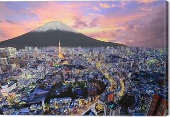 Tableau sur toile Tokyo et Fuji