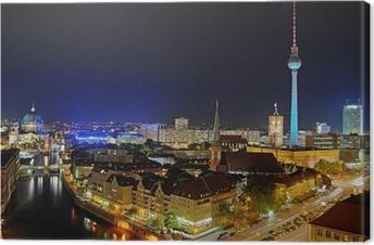Tableau sur toile Tour de télévision de Berlin