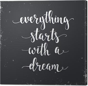 Tableau sur Toile Tout commence par un rêve.