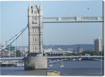 Tableau sur toile Tower Bridge et bateaux de touristes
