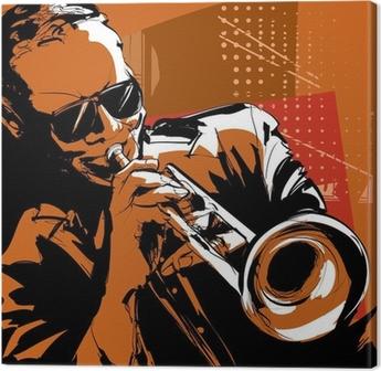 Tableau sur toile Trompettiste de jazz