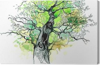 Tableau sur toile Tronc d'arbre