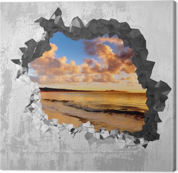 Art Mur Plage Coucher De Soleil